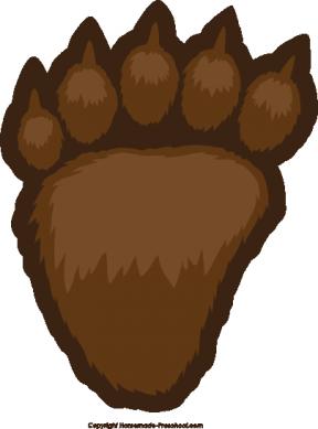 Cub Scout Bear Paw Print Clip Art.