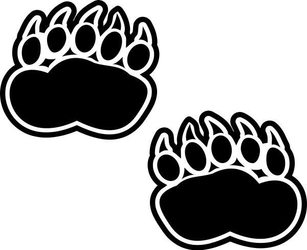 Bear paw paw prints clipart 2.