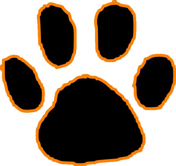 Panther Paw Print Clip Art & Panther Paw Print Clip Art Clip Art.