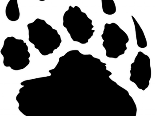 Bear Paw Print Stencil 8.