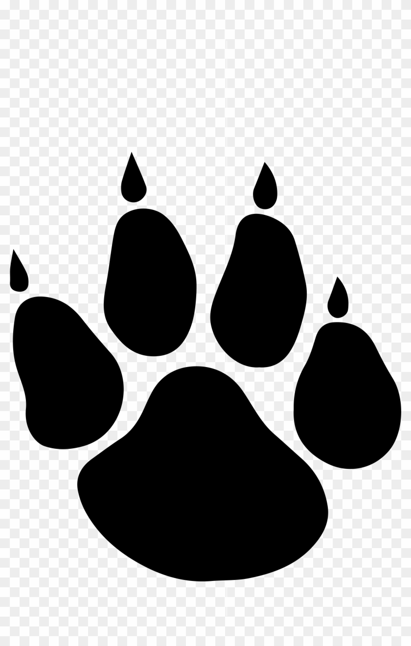Picture Free Clip Art Bear Paw Prints Image.