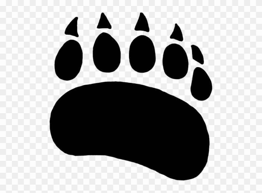 Bear Paw Paw Prints Clipart.