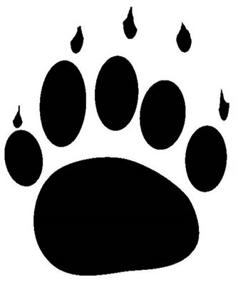 Grizzly Bear Paw Clipart.