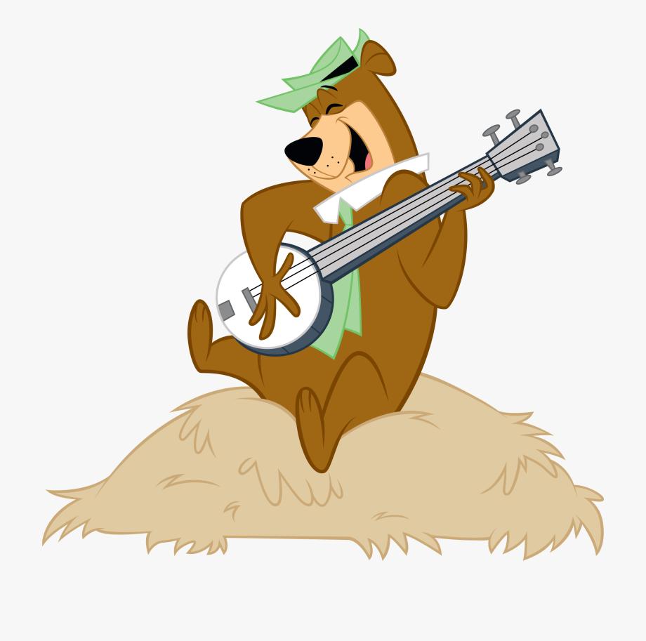 Yogi Bear Playing Guitar , Transparent Cartoon, Free.