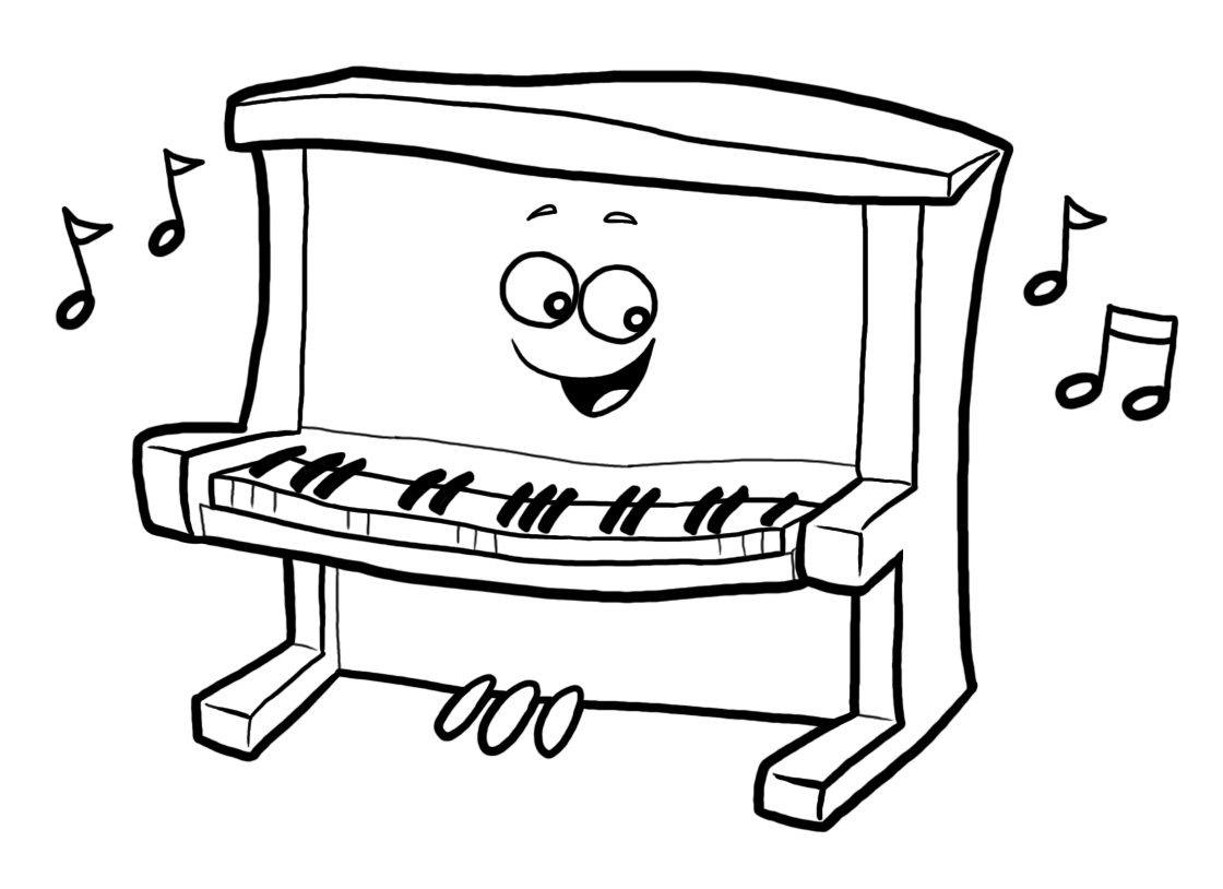 3301 Piano free clipart.