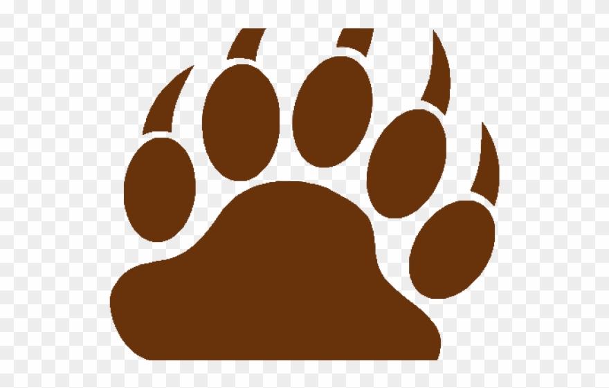 Brown Bear Clipart Paw.