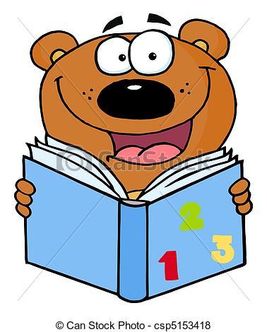 Bear reading Clip Art Vector and Illustration. 356 Bear reading.