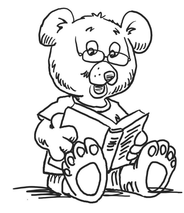 Black Bear Cartoon.