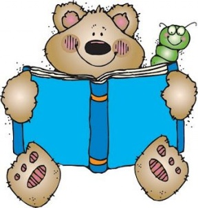 Bear Reading Clipart.