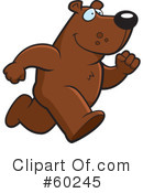 Bear Running Clipart #1.