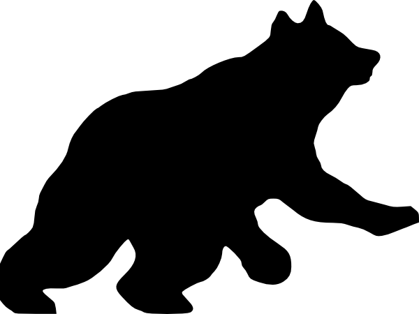 Running Bear Clip Art at Clker.com.
