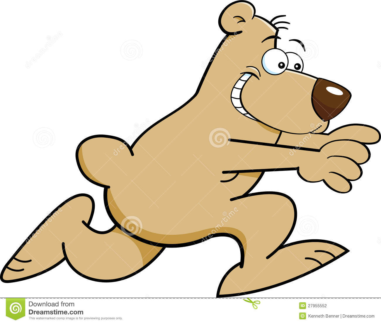 Cartoon bear running stock vector. Illustration of mascot.