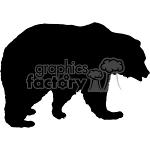bear silhouette vector svg cut files clipart. Royalty.