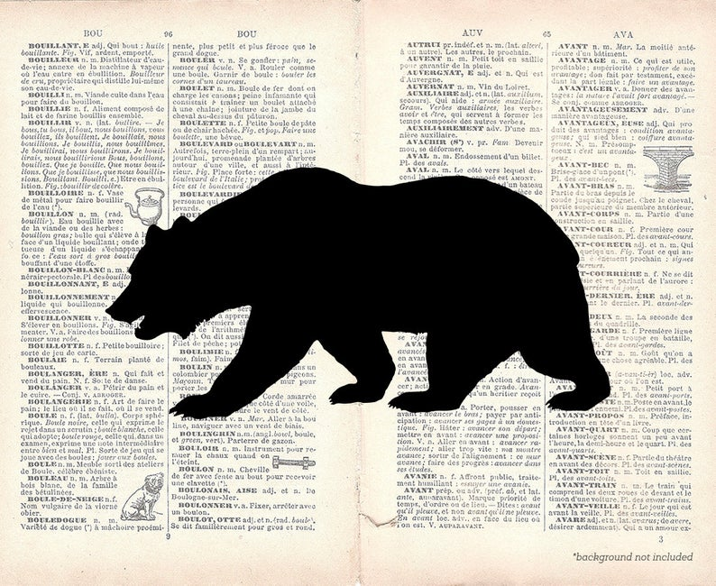 Bear Silhouette Clip Art.