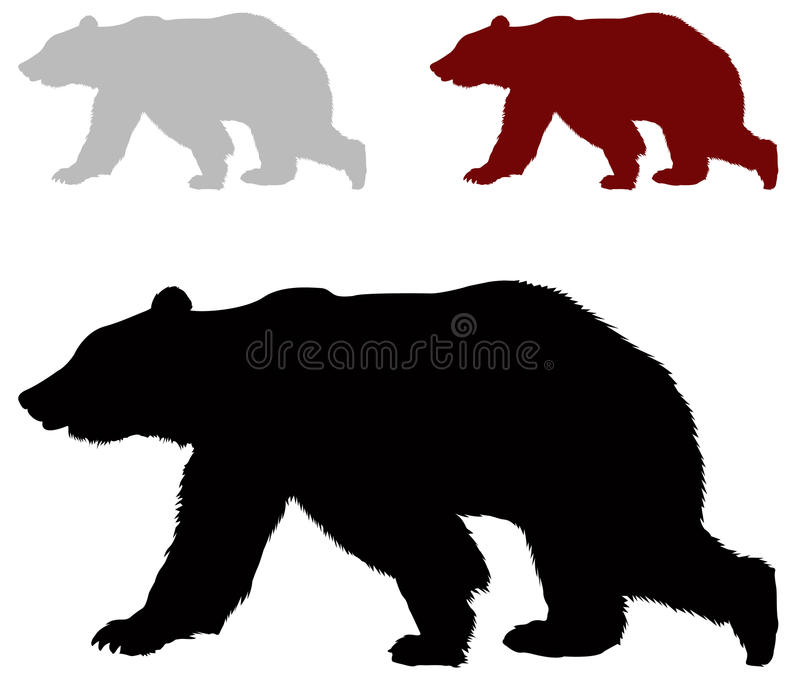 Bear Silhouette Stock Illustrations.