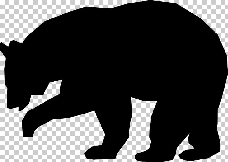 American black bear Brown bear Silhouette , bears PNG clipart.