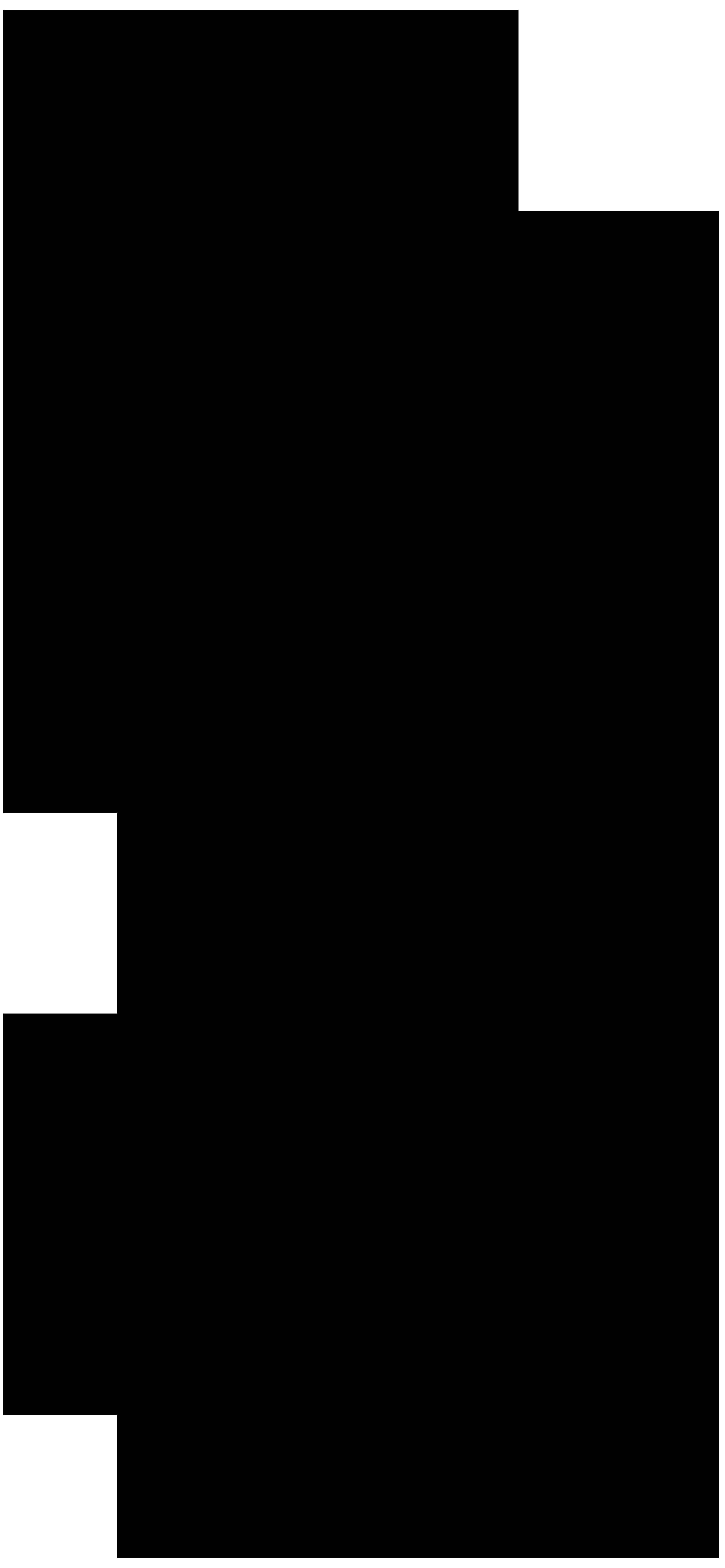 Bear Silhouette PNG Clip Art Image.