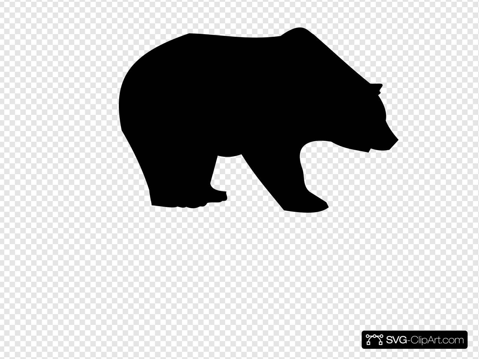 Bear Silhouette Clip art, Icon and SVG.