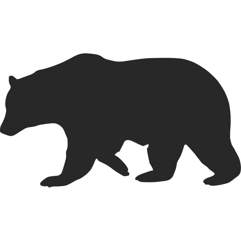 Bear Silhouette Clip Art Group (+), HD Clipart.