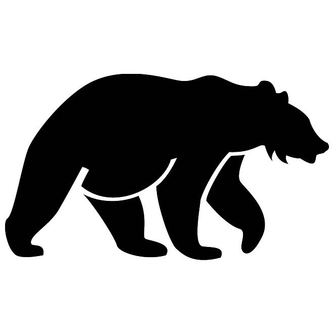 Bear Silhouette Image Free Vector.