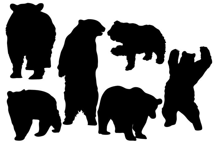 Free Bear Silhouette Vector.