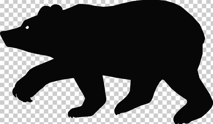 American Black Bear Silhouette Cartoon PNG, Clipart, American Black.