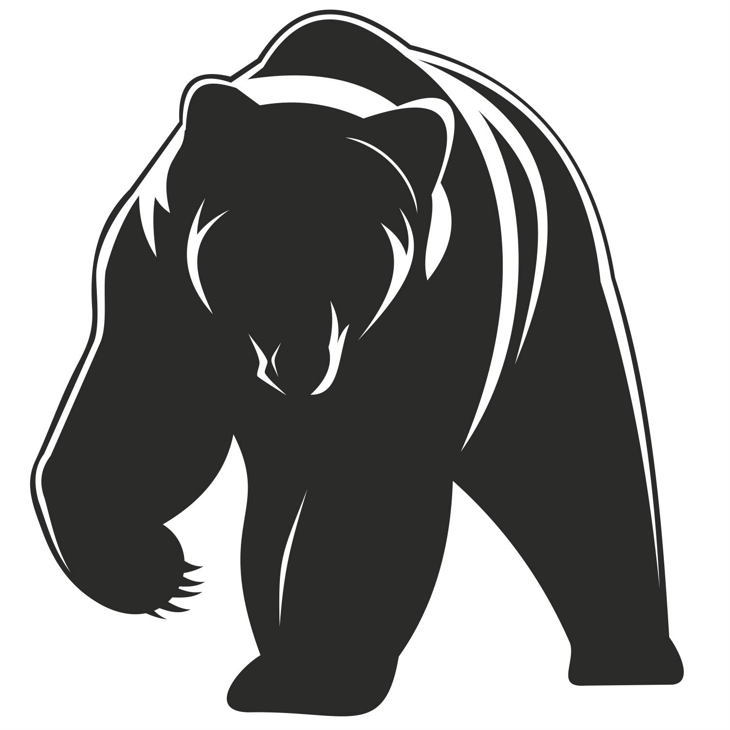 Pics For > Standing Grizzly Bear Vector.