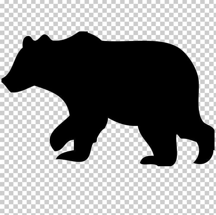 American Black Bear Silhouette PNG, Clipart, American Black Bear.