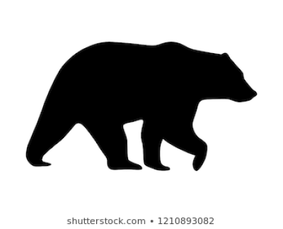 Bear Silhouette Images PNG.