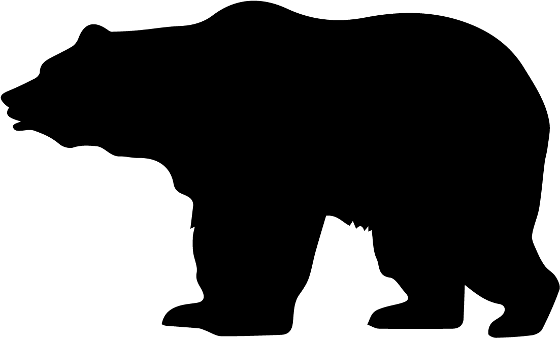 Download Bear Silhouette PNG Image with No Background.