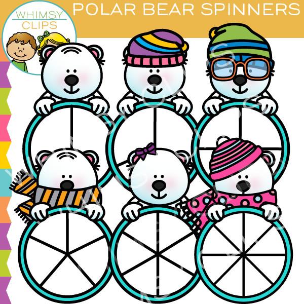 Polar Bear Spinners Clip Art , Images & Illustrations.