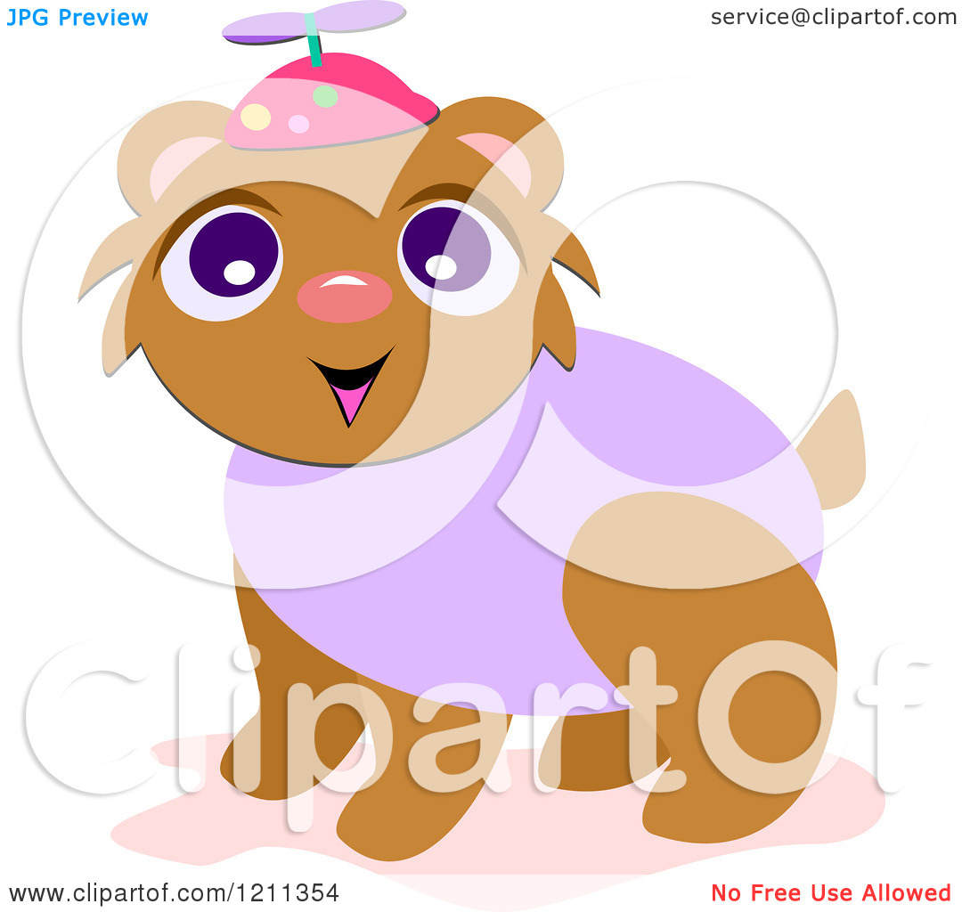 Cartoon of a Bear Wearing a Spinner Hat.