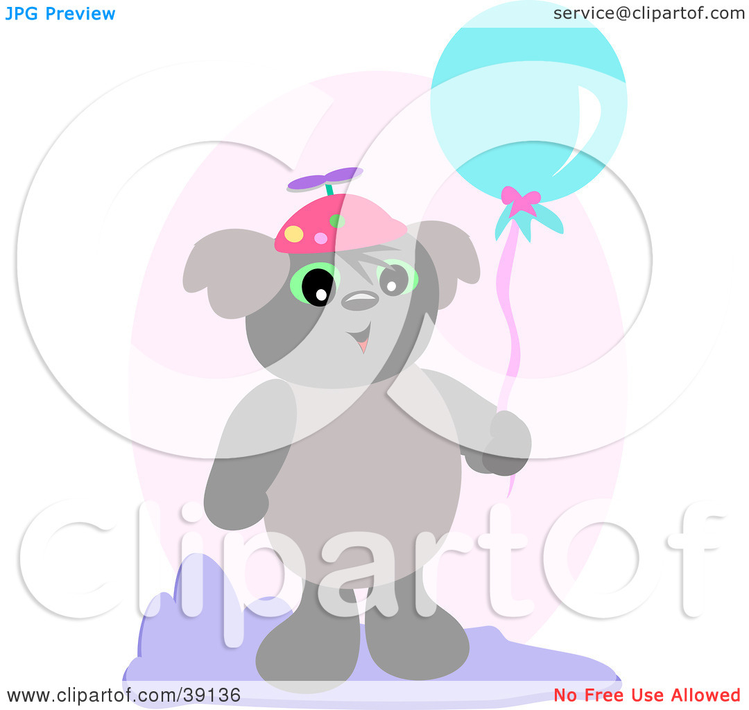 Clipart Illustration of a Koala Bear Wearing A Spinner Hat And.