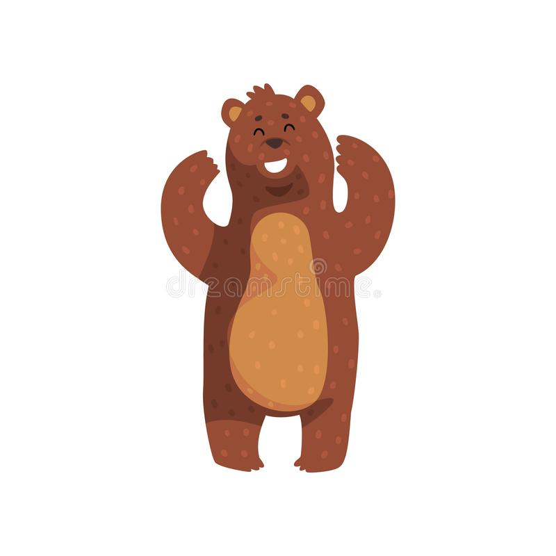 Grizzly Bear Standing Stock Illustrations.