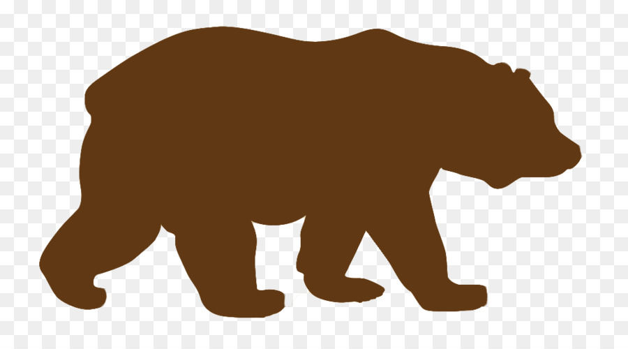 Free Bear Standing Silhouette, Download Free Clip Art, Free Clip Art.