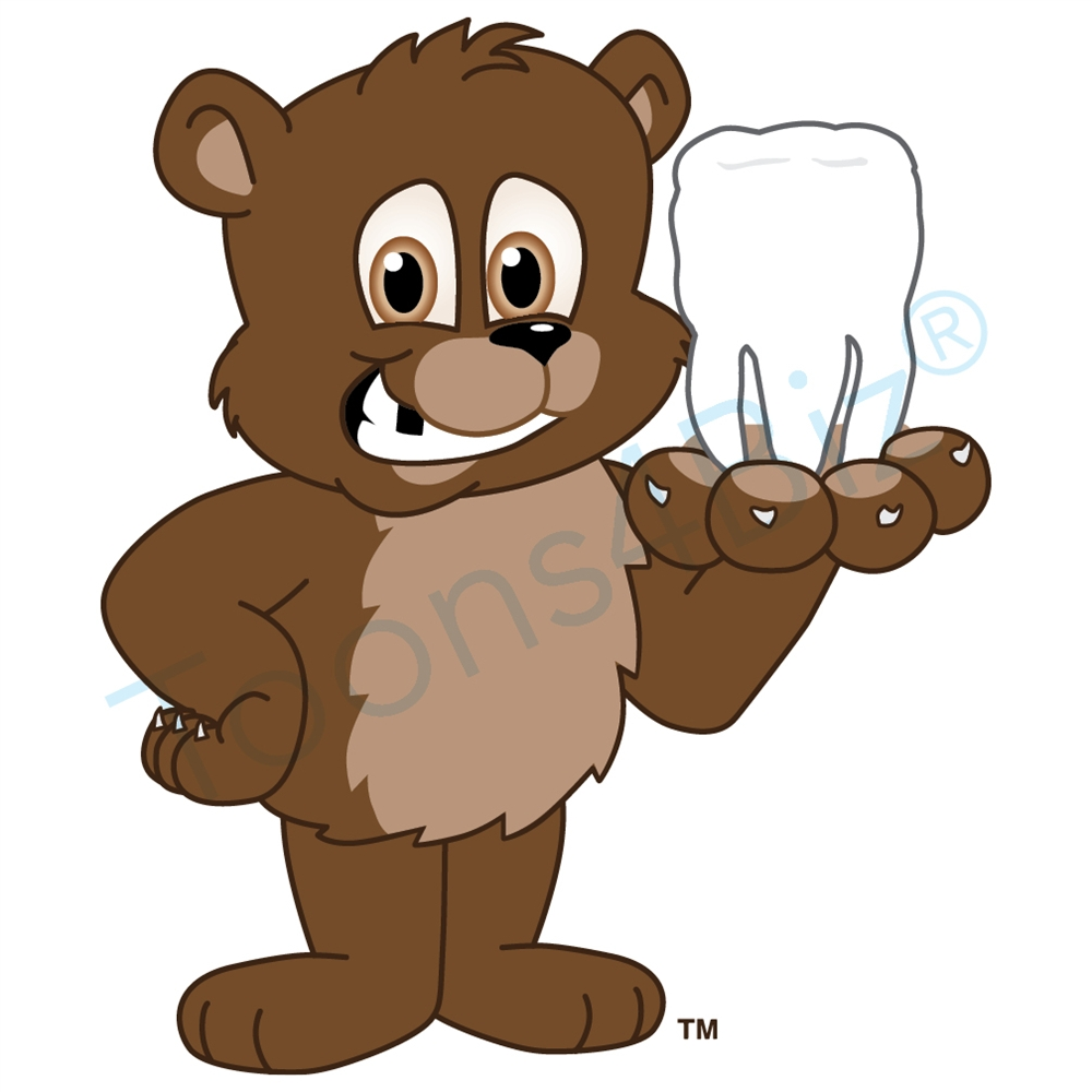 Bear Mascot with a Missing Tooth Clip Art.