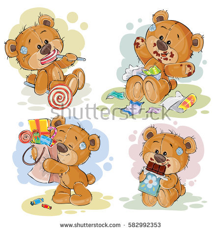 Bear Eating Stock Vectors, Images & Vector Art.