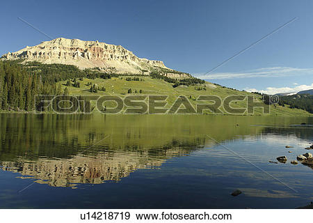 Stock Photograph of WY, Wyoming, Beartooth Scenic Highway.