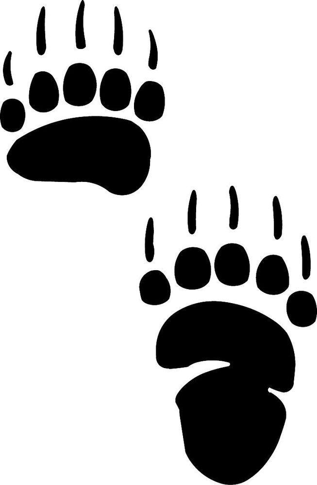 Bear Footprint Clipart.