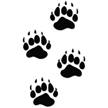 Black Bear Paws Print Tracks Hunting Vinyl Decal Sticker For Vehicle Car  Truck Window Bumper Wall Decor.