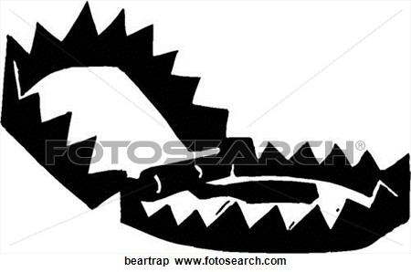 Bear Trap Clip Art.