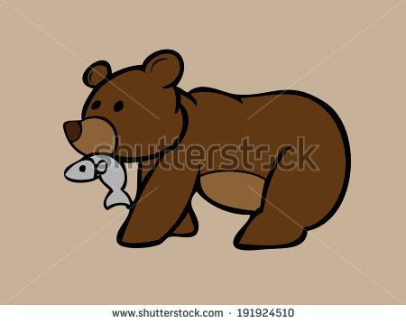 Bear Eating Fish Clipart (65+).