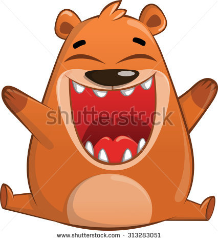 Bear Eating Stock Images, Royalty.