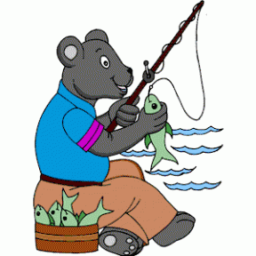 Bear Trout Mouth Clipart.