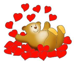 Valentine Bear in Valentine Graphics.