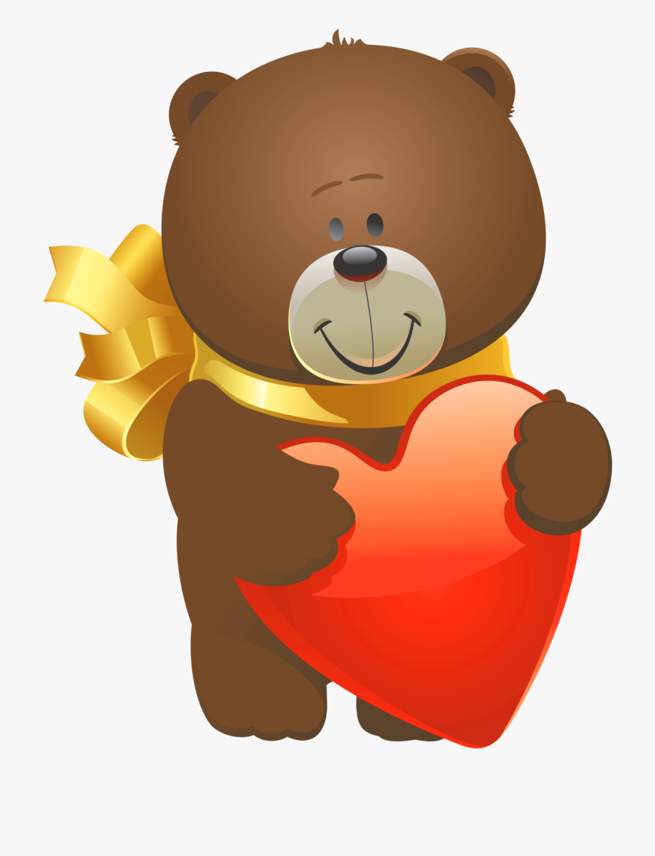 Svg Freeuse Stock Valentine Bear Clipart.