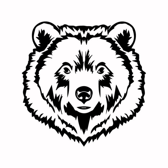 Grizzly Bear 10 graphics design SVG DXF PNG PDF AI EPS Vector Art Clipart  instant download Digital Cut Print Files Cricut Silhouette.