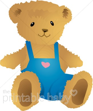 Boy Teddy Bear Clipart.
