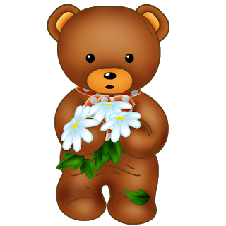 Bears With Flowers.