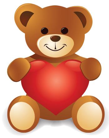 Teddy and Heart.